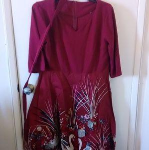 Dresses & Skirts - Gorgeous retro syle swan skirted dress